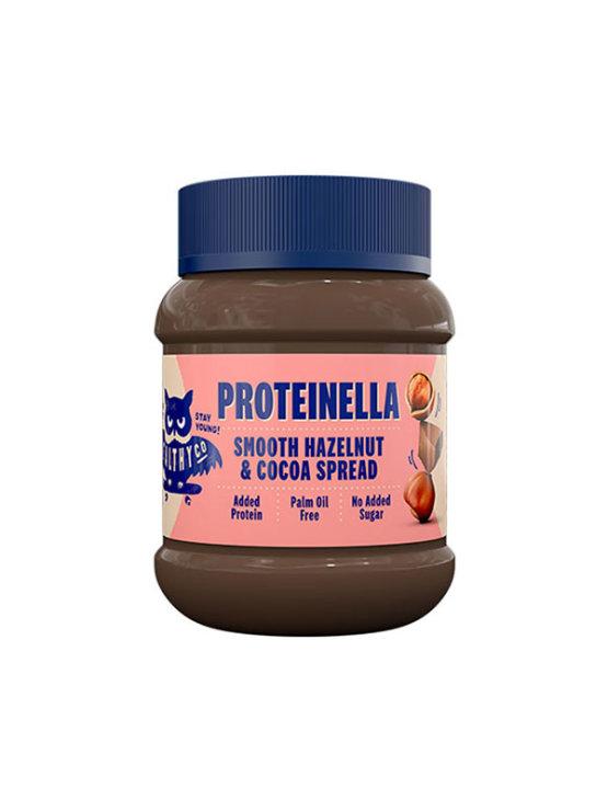 HealthyCo Proteinella namaz od lješnjaka i tamne čokolade u platičnoj ambalaži od 400g