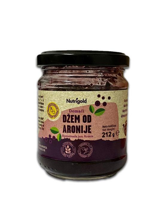 Organski Nutrigold džem od aronije u prozirnoj staklenoj ambalaži od 212 grama