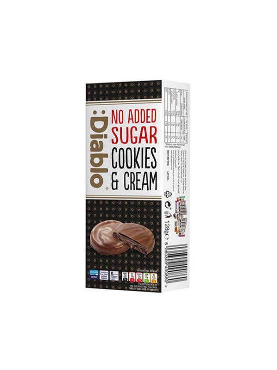 Čokoladni keksi s punjenjem bez dodanog šećera 128g - Diablo