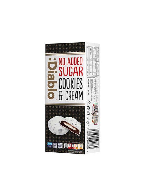 Keksi bijela čokolada s punjenjem bez dodanog šećera 128g - Diablo