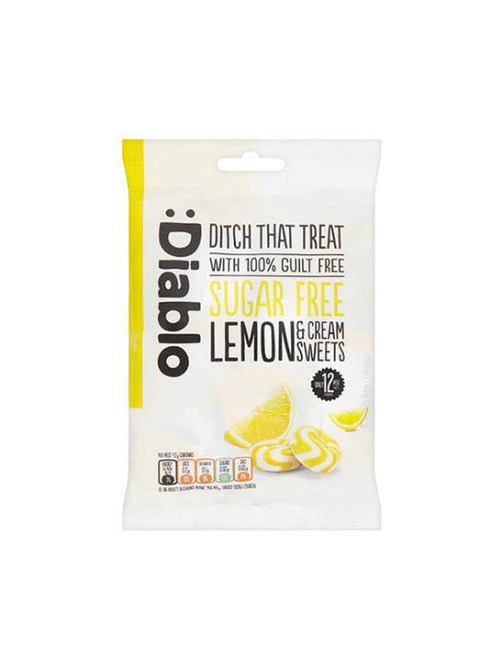 Diablo sugar free lemon and cream sweets in a plastic bag 75g
