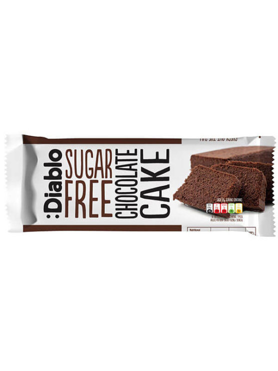 Diablo sugar free chocolate cake in a single packaging of 200g