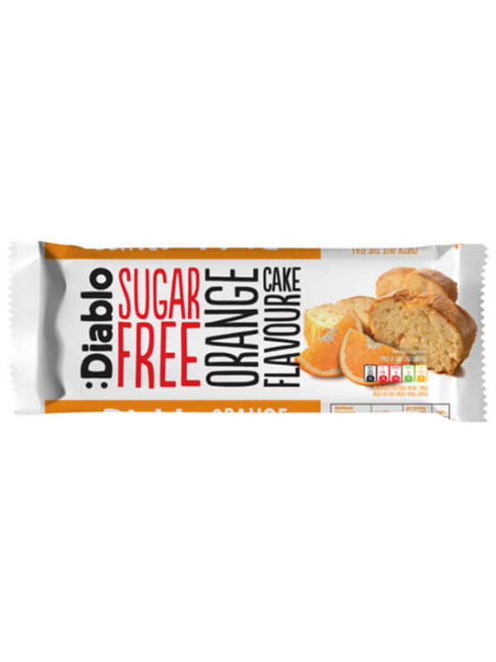 Diablo sugar free orange cake in a 200g packaging