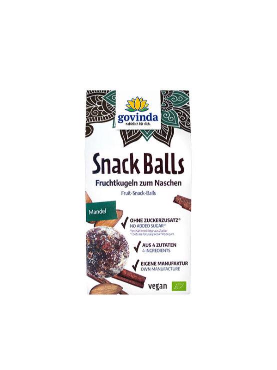 Govinda organic snack balls in a cardboard packaging of 100g