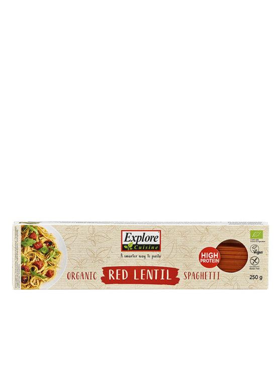Organic Explore Cuisine red lentil spaghetti in a 250g packaging