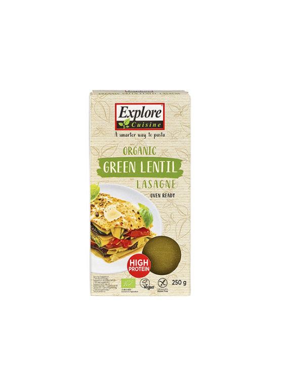 Organske Explore Cuisine lasagne od zelene leće u kartonskoj ambalaži od 250g