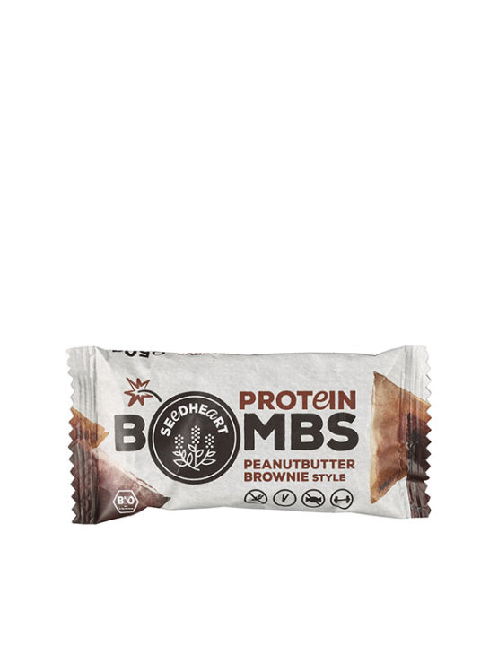 Organska Seedheart proteinska bomba brownie i kikiriki maslac u pakiranju od 50g