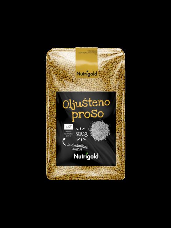 Nutrigold organsko oljušteno proso u prozirnoj ambalaži od 500g