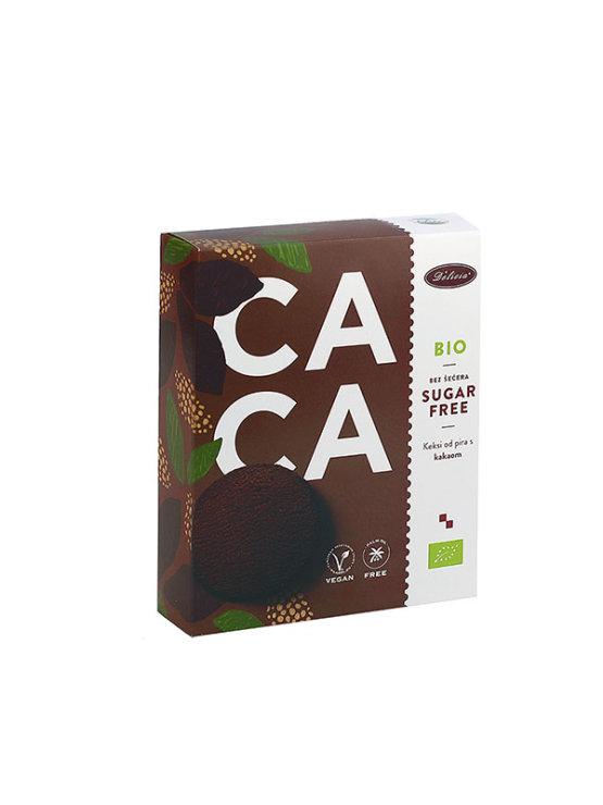 Organski keksi od pira i kakaom bez šećera u kartonskom pakiranju od 125g