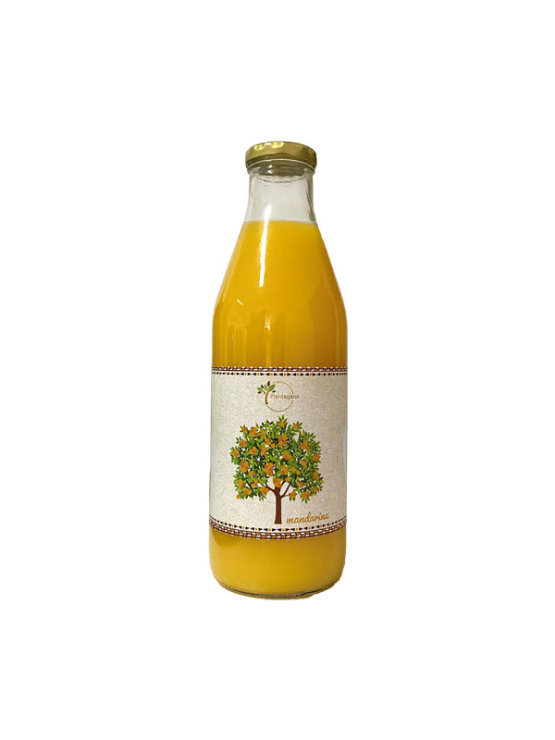 Plantagana cold-pressed mandarin juice in a glass bottle of 1000ml
