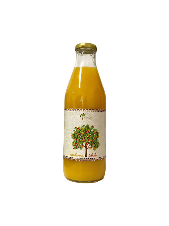 Plantagana mandarin and apple juice in a glass bottle of 1000ml