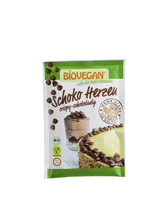 Biovegan organska dekorativna čokoladna srca bez glutena u pakiranju od 35g