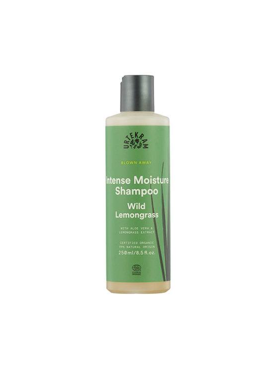 Urtekram intense moisture hair shampoo in a green bottle of 250ml