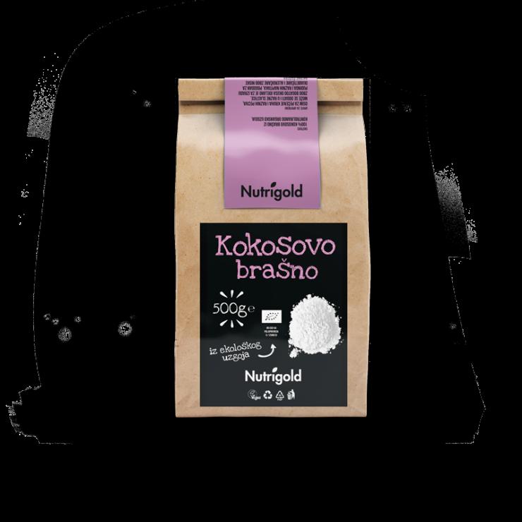 Nutrigold Kokosovo brašno - Organsko u smeđoj ambalaži 500g