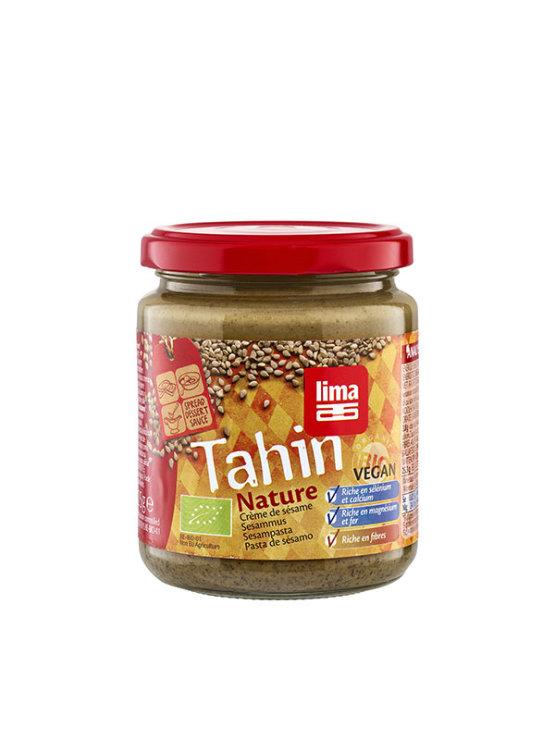 Lima organic whole tahini in a glass jar of 225g