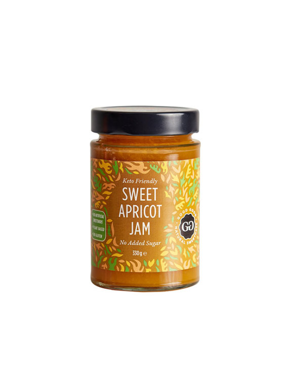 Via Healthy sweet apricot jam in a glass jar of 330g