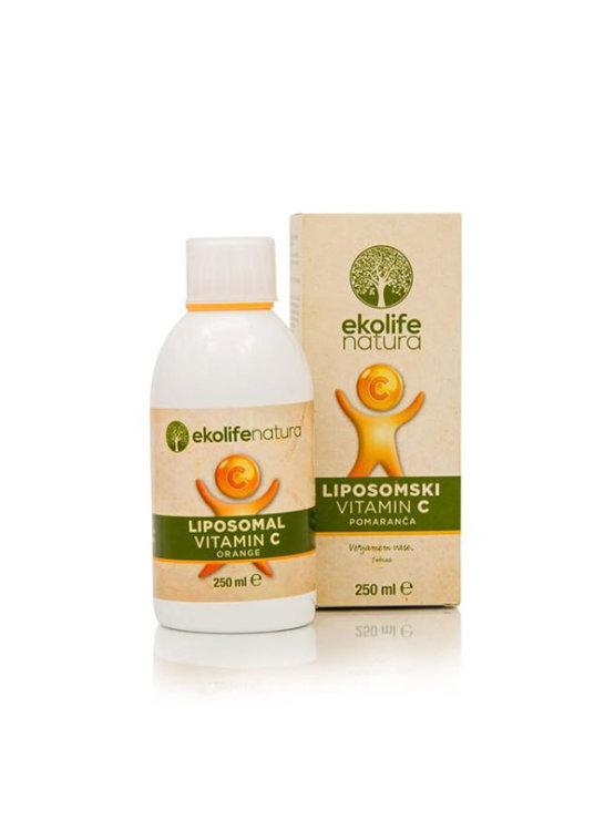 Ekolife Natura liposomalni C vitamin s okusom naranče u pakiranju od 250ml