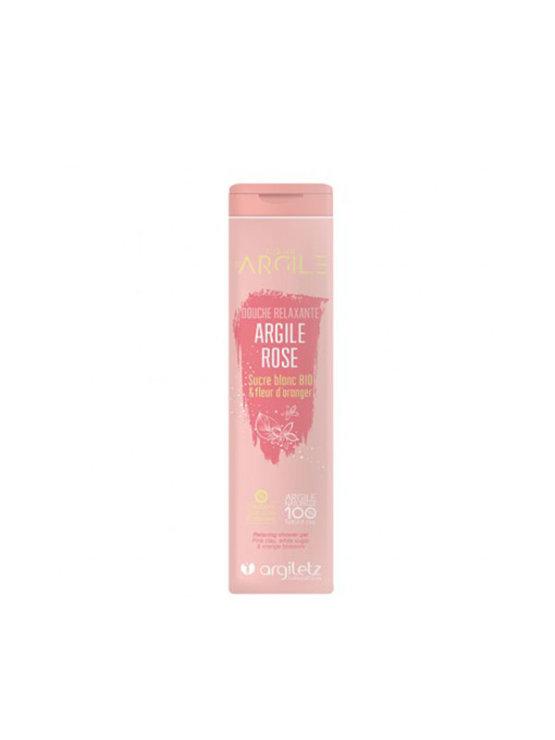 Argiletz gel za tuširanje s rozom glinom i cvijetom naranče u narančastoj tubastoj ambalaži od 250 ml