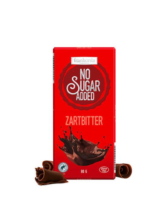 Frankonia tamna čokolada bez dodanog šećera u crvenoj ambalaži od 80g