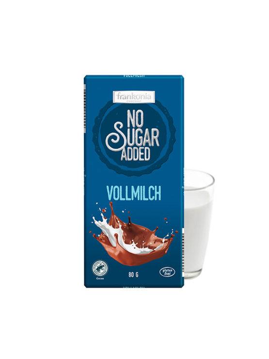 Frankonia mliječna čokolada bez dodanog šećera u plavoj ambalaži od 80g
