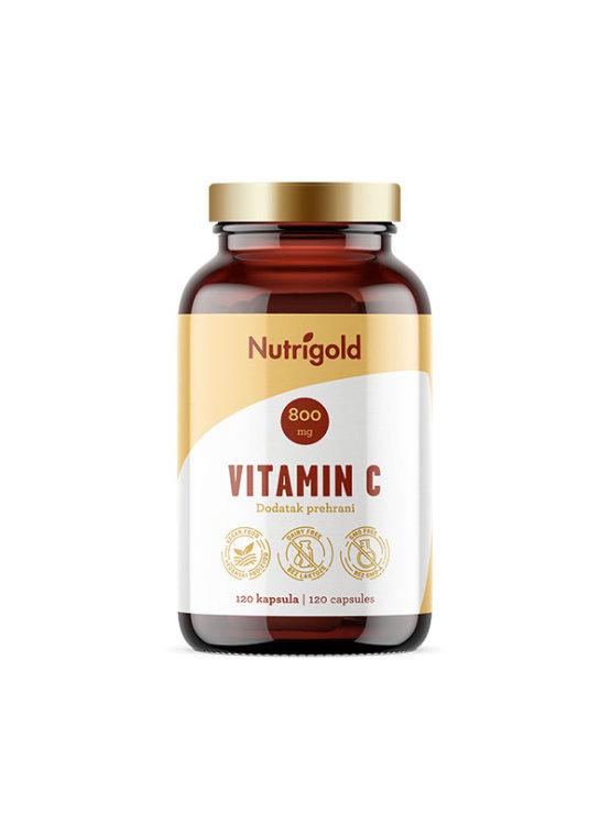 Nutrigold vitamin C 120 veganskih kapsula u tamnoj ambalaži