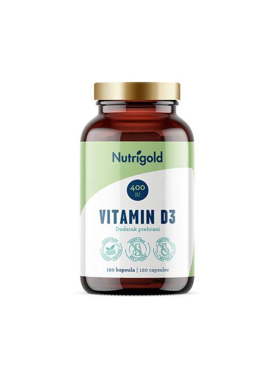 Nutrigold vitamin D3 veganske kapsule u tamnoj ambalaži od 120 kapsula