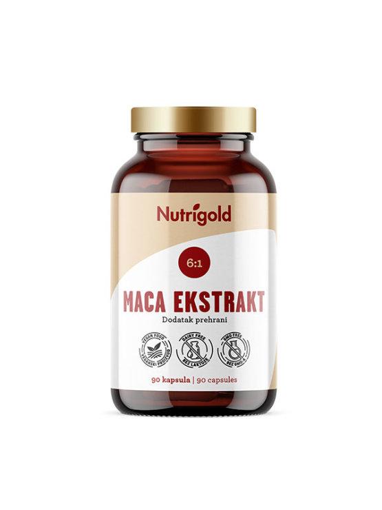 Nutrigold maca ekstrakt, 90 veganskih kapsula u tamnoj staklenoj ambalaži