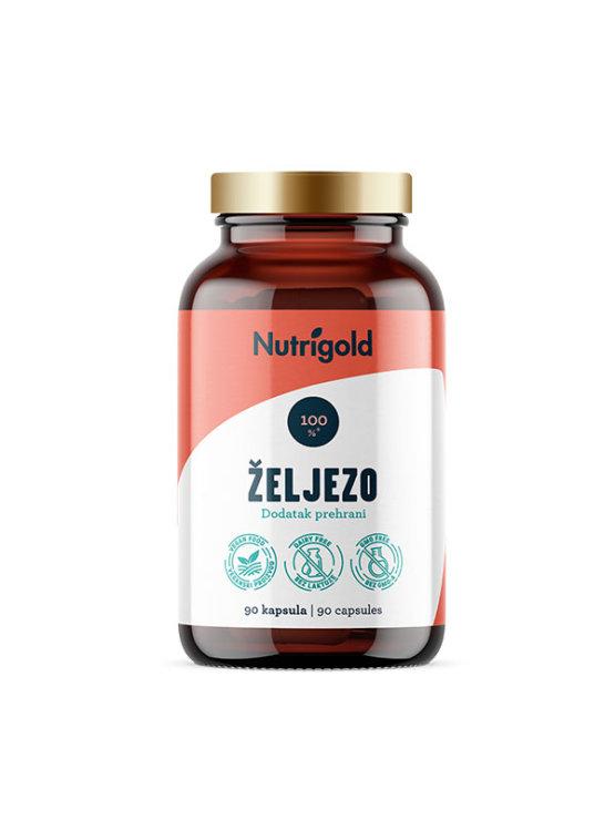 Nutrigold 90 veganskih kapsula željeza u tamnoj staklenoj ambalaži