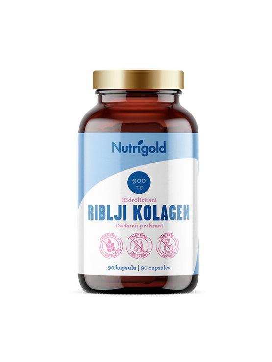 Nutrigold hidrolizirani riblji kolagen u staklenoj ambalaži s 90 kapsula