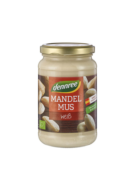 Organski Dennree maslac od bijelog badema u staklenoj ambalaži od 350g
