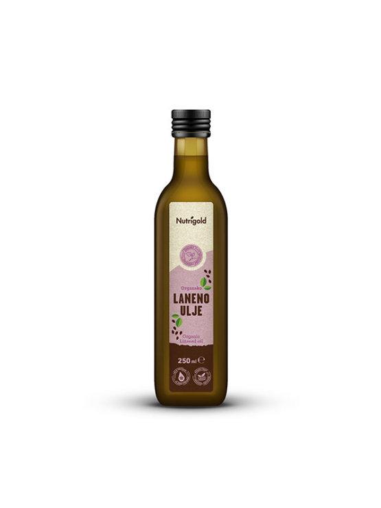 Nutrigold organsko laneno ulje u staklenoj ambalaži od 250 ml