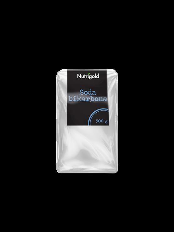 100% soda bikarbona od 500g u prozirnoj plastičnoj ambalaži sa naljepnicom.