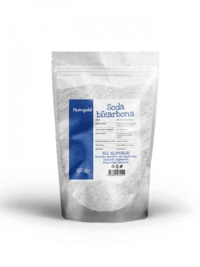 100% soda bikarbona od 500g u prozirnoj plastičnoj ambalaži sa naljepnicom