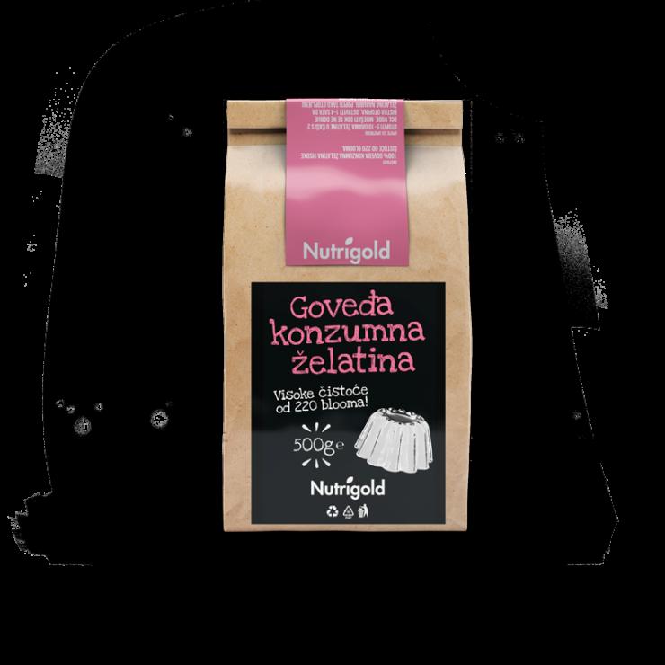 Nutrigold goveđa konzumna želatina u ambalaži od 500g
