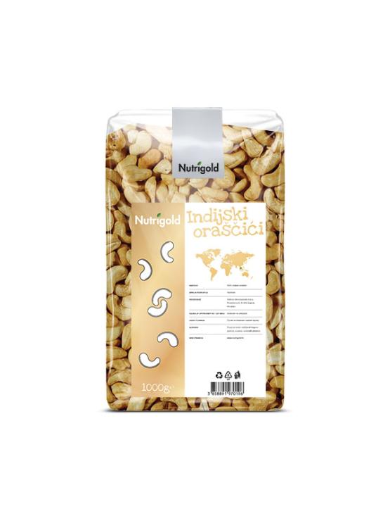 Nutrigold Indijski oraščić u prozirnoj plastičnoj ambalaži 1kg