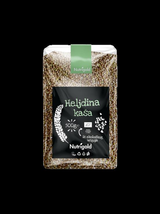 Nutrigold heljdina kaša sirovau prozirnoj plastičnoj ambalaži 500g