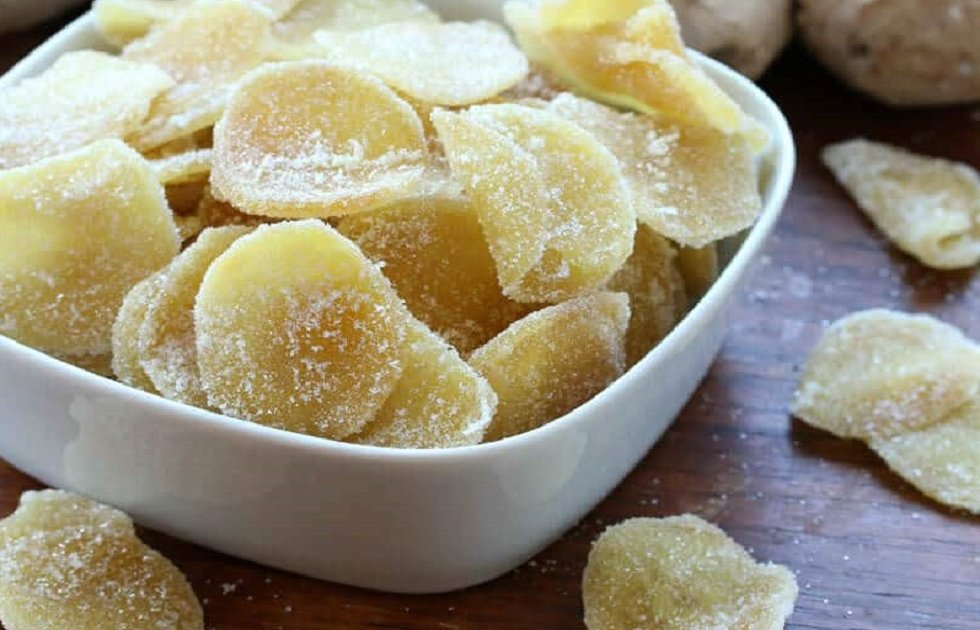 Candied ginger - a treat with medicinal properties